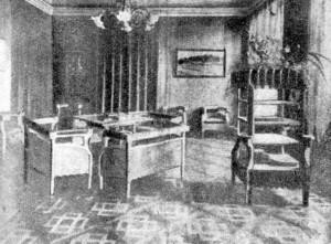 Salon w mieszkaniu Zofii i Tadeusza Żeleńskich