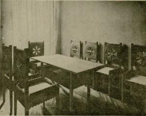 Jadalnia w mieszkaniu Zofii i Tadeusza Żeleńskich