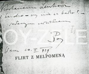 Flirt z Melpomeną. Wieczór ósmy